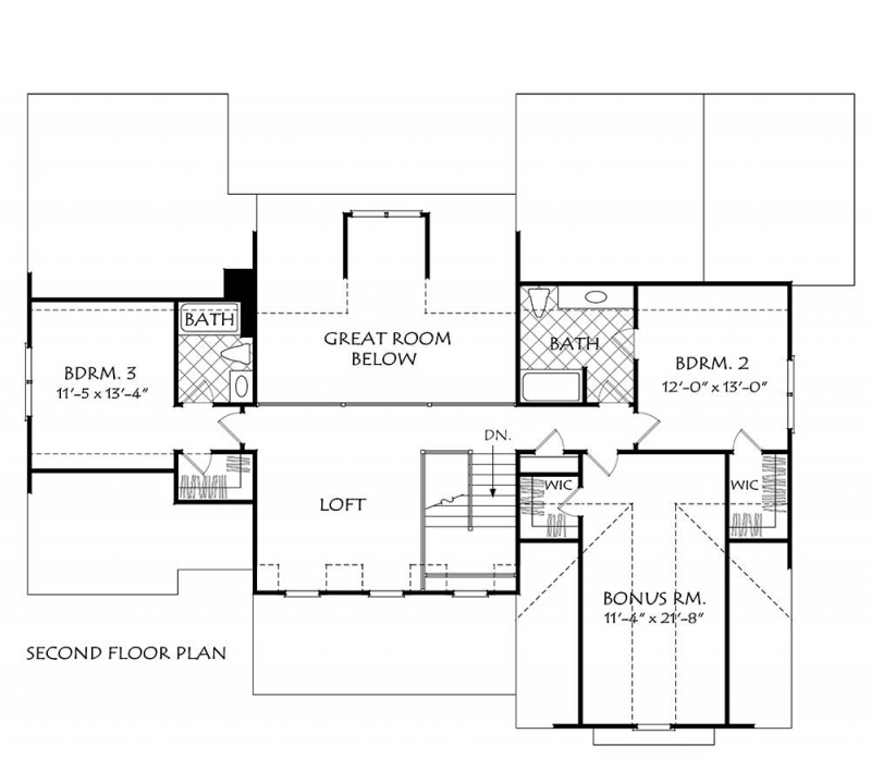 Cabot house floor plan frank betz associates for Frank betz floor plans
