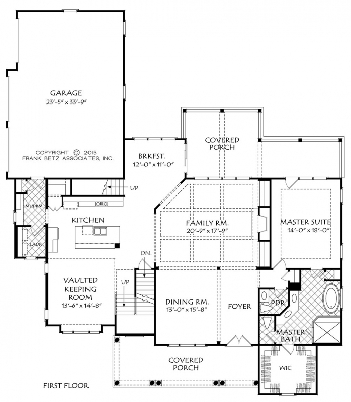 Southern trace house floor plan frank betz associates for Frank betz floor plans