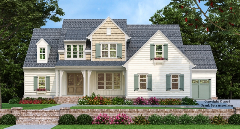 Statesboro house floor plan frank betz associates for Modified cape cod house plans