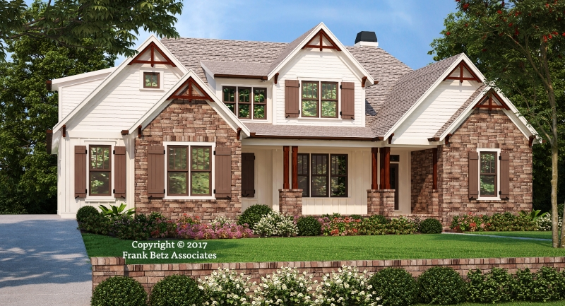 Craftsman style house plans frank betz associates for L shaped craftsman home plans