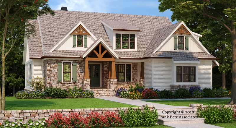Craftsman house plans frank betz for Summerlake house plan