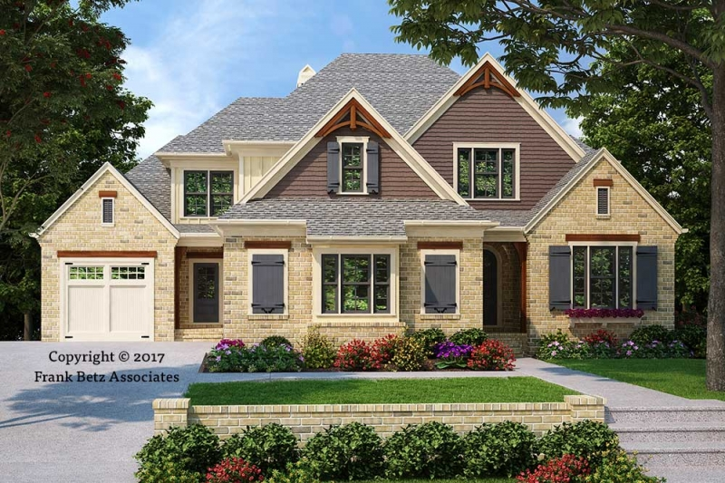 Craftsman style house plans frank betz associates for Custom craftsman house plans