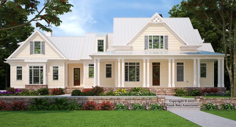 Gulfport house floor plan frank betz associates for Large farmhouse house plans