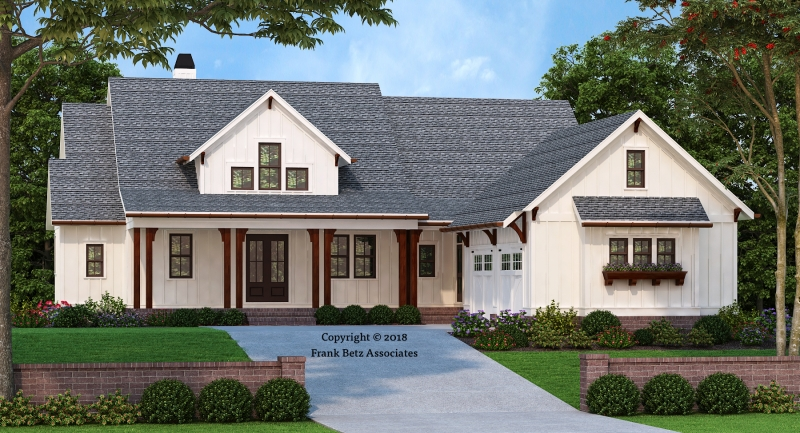 Find home plans for 1 story farmhouse floor plans