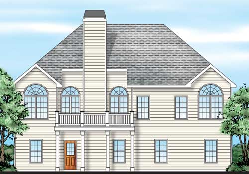 St Augustine House Plan Rear Elevation