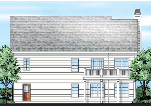 Barnwell House Plan Rear Elevation