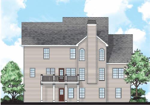 Hopkins House Plan Rear Elevation