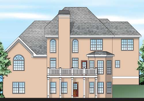 Shelby House Plan Rear Elevation