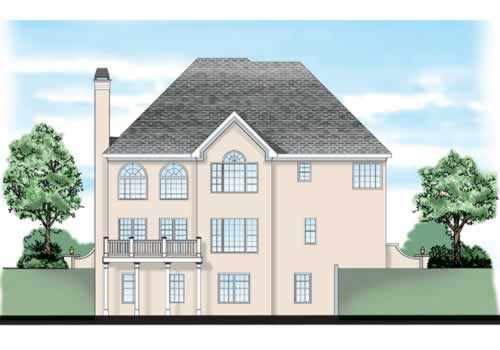 Burgess House Plan Rear Elevation