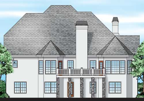 Rathmore House Plan Rear Elevation