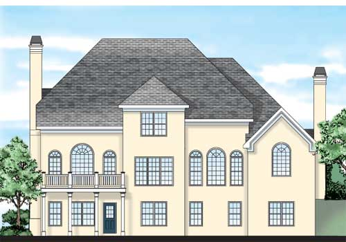 Candace House Plan Rear Elevation