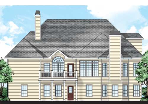 Cassidy House Plan Rear Elevation