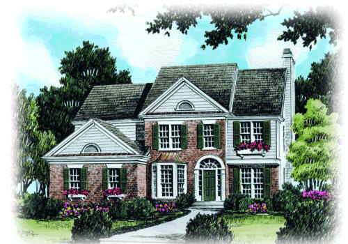 Adamsville House Plan Elevation