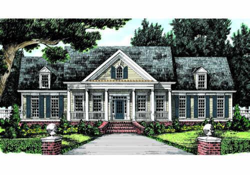 allentown house plan elevation