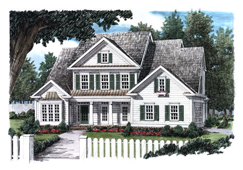 LANCASTER PLACE Southern Living House Plans
