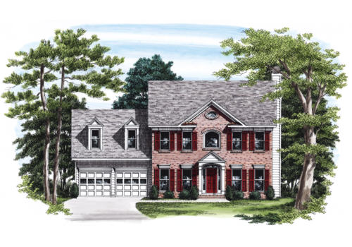Oakhurst House Plan Elevation